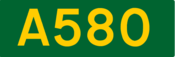 A580 road shield
