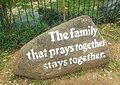 UP Parish of the Holy Sacrifice sign about family.jpg