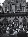 US-President John F. Kennedy stands before the Roemer - Frankfurt's City Hall in Germany 1963.jpg