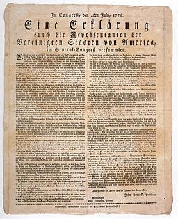 US-Unabhängigkeitserklärung-deutsch