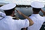 USNS Mercy arrives at Pearl Harbor for Pacific Partnership 2015 150525-N-BK290-075.jpg