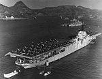 USS Philippine Sea (CV-47) moored at Sasebo in January 1951.jpg