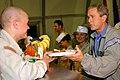 US Navy 031127-F-5435R-008 President George W. Bush pays a surprise visit to Baghdad International Airport (BIAP).jpg