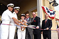 US Navy 070420-N-0066L-001 Commanding Officer Naval Base San Diego, cut a ribbon during the grand opening of the new Commissary on Naval Base San Diego.jpg