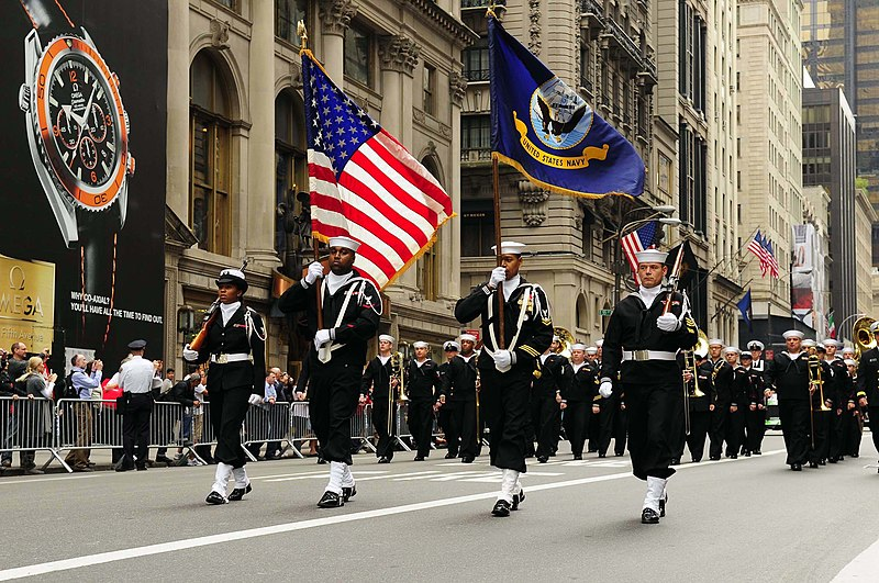 File:US Navy 081013-N-5758H-061 Navy Operation Support Center, Bronx Color Guard leads the 64th annual Columbus Day Parade.jpg
