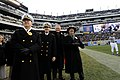 US Navy 081206-N-8273J-386 Chief of Naval Operations Adm. Gary Roughead and Secretary of the Navy the Honorable Donald C. Winter cheer from the sidelines during the 109th annual Army-Navy football game.jpg