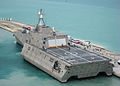 US Navy 100329-N-1481K-293 USS Independence (LCS 2) arrives at Mole Pier at Naval Air Station Key West.jpg