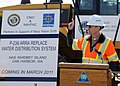 US Navy 100524-N-9860Y-006 Rear Adm. James Symonds, commander of Navy Region Northwest, delivers remarks during a groundbreaking ceremony to commemorate the start of a water distribution replacement project.jpg