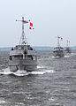 US Navy 100712-N-3066M-001 Approximately 100 U.S. Naval Academy Midshipmen get underway in four yard patrol crafts from Annapolis, Md., en route to Newport, R.I., as part of summer training evolutions.jpg