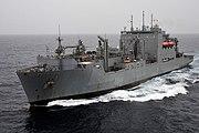US Navy 100831-N-4378P-036 USNS Lewis and Clark (T-AKE 1) is underway in the Arabian Sea