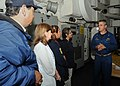 US Navy 100928-N-2259P-004 Cmdr. Paul Bieraugel welcomes members of the San Ysidro School District aboard for a one-day embark as part of the Leade.jpg