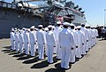 US Navy 110630-N-AB355-208 Sailors stand at attention during the decommissioning ceremony of USS Dubuque (LPD 8).jpg