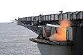 US Navy 110927-N-AU622-046 A rolling airframe missile (RAM) is fired from a launcher during a live-fire exercise aboard the aircraft carrier USS Dw.jpg