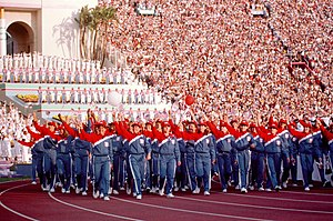 United States at the 1984 Summer Olympics - US delegation during the opening ceremony for the 1984 Summer Olympics