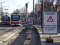 U plynárny, zastávka Plynárna Michle, dočasná konečná, tramvaje (02).jpg