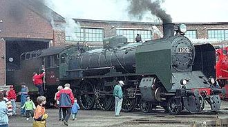 Pasila - Steam Locomotive VR Class Hr1 1009  at Pasila railway depot
