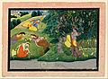 Unknown, Kangra, India - Krishna Fluting to the Milkmaids - Google Art Project.jpg