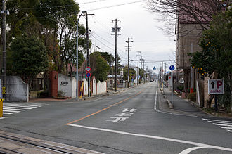 Stop and yield lines - Stop line in Toyokawa, Aichi, Japan