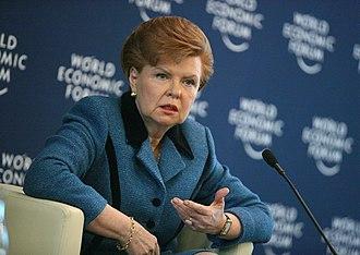 Vaira Vīķe-Freiberga - Vaira Vīķe-Freiberga at the 2007 World Economic Forum.