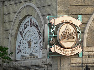 Valentin Blatz Brewing Company - Building detail from the brewery complex