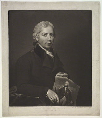 Lemuel Francis Abbott - Portrait of Abbott by Valentine Green.