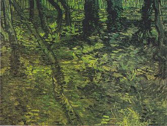 Trees and Undergrowth (Van Gogh series) - Undergrowth with Ivy July, 1889 Van Gogh Museum, Amsterdam (F745)
