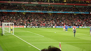 Robin Van Persie prepares to take a penalty in...