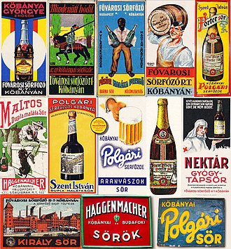 Dreher Breweries - Advertisement of famous products of the company in 1930s