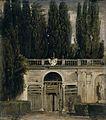 Velázquez - Jardín de la Villa Médicis en Roma, Entrada de la gruta (Museo del Prado, 1630).jpg