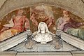 Ventura salimbeni, fede, speranza e angeli (1606) che incoronano il busto di cristina di lorena (di leonardo marcacci, 1600-10 ca.) 02.jpg