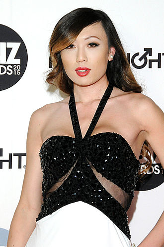 32nd AVN Awards - Venus Lux, winner of the 2015 AVN Transsexual Performer of the Year Award