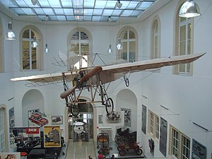 Dresden Transport Museum - Historical aeroplane in the foyer