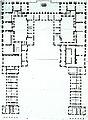 Versailles - plan of premier étage of Enveloppe - Berger 1985 Fig12.jpg
