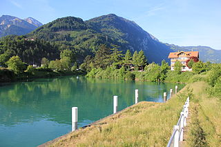 canal in the Swiss canton of Bern, connecting Lake Thun with Interlaken