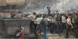A strike of workers in Biscay