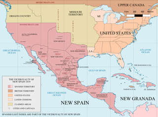 Viceroyalty of New Spain (source: Wikipedia, click for larger image)