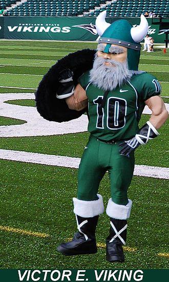 Portland State Vikings - Portland State Mascot Victor E. Viking