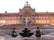 Victoria Square, Birmingham at dusk