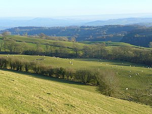 English land law - Image: View east from Bron y Fedw geograph.org.uk 1121179