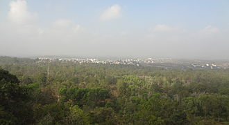 Turahalli Forest - Image: View from Turahalli Forest