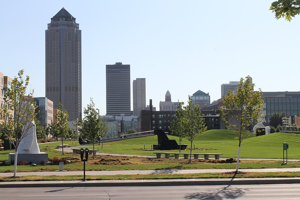 View from the Pappajohn Sculpture Park