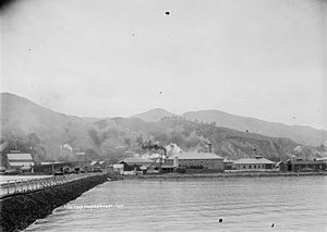 A & G Price - Image: View of Moanataiari, Thames from the Goods Wharf (21067250563)