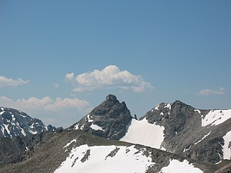Indian Peaks Wilderness - Navajo Peak, as seen from the top of Pawnee Peak