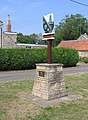 Village sign, Maxey, Peterborough - geograph.org.uk - 217371.jpg
