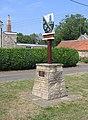 Village sign, Maxey, Peterborough - geograph.org.uk - 217371.jpg