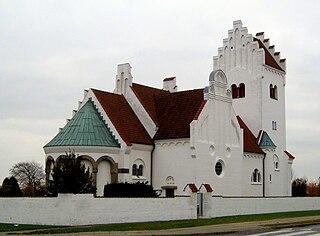 Vodskov town in Denmark