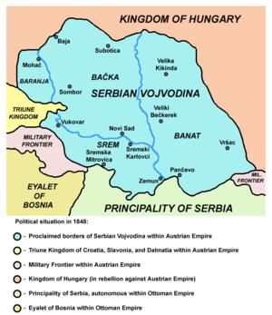 Voivodeship - Serbian Voivodina (1848–1849)