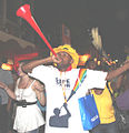 Vuvuzela blower Final Draw FIFA 2010 World Cup1.jpg