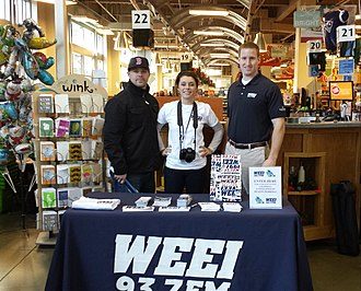 WEEI-FM - WEEI promotional booth at a supermarket in Boston.