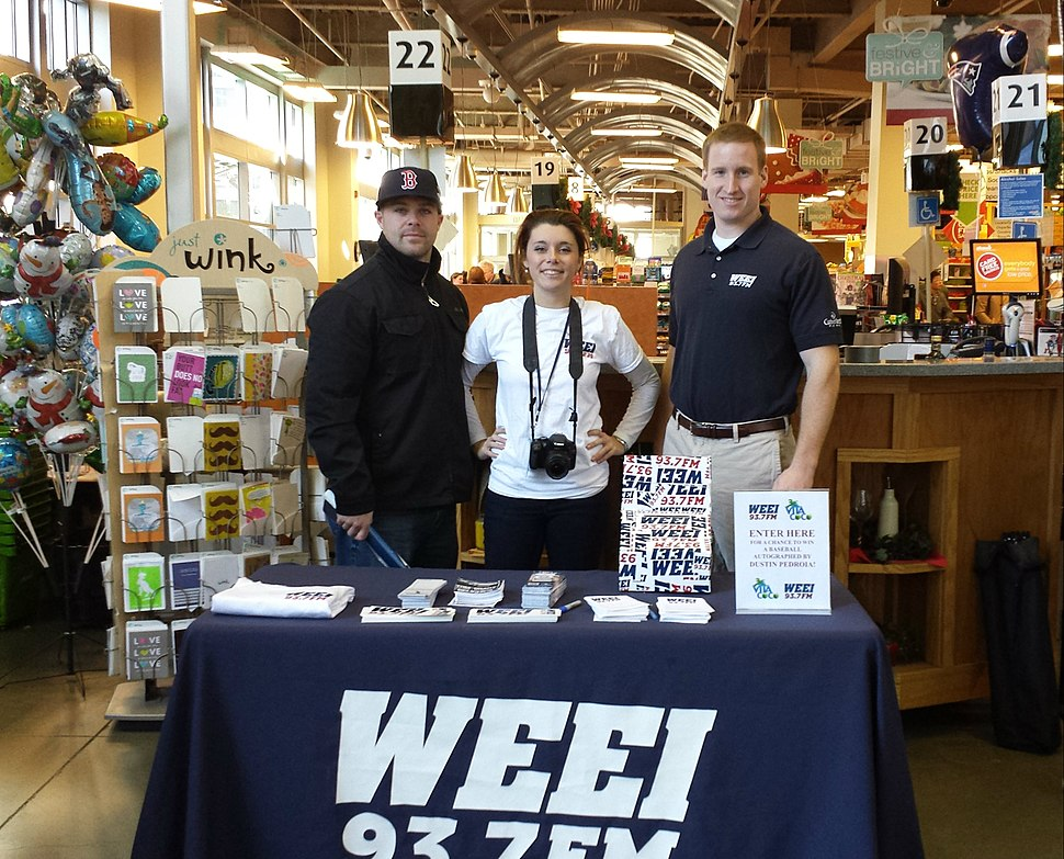WEEI Booth At Supermarket